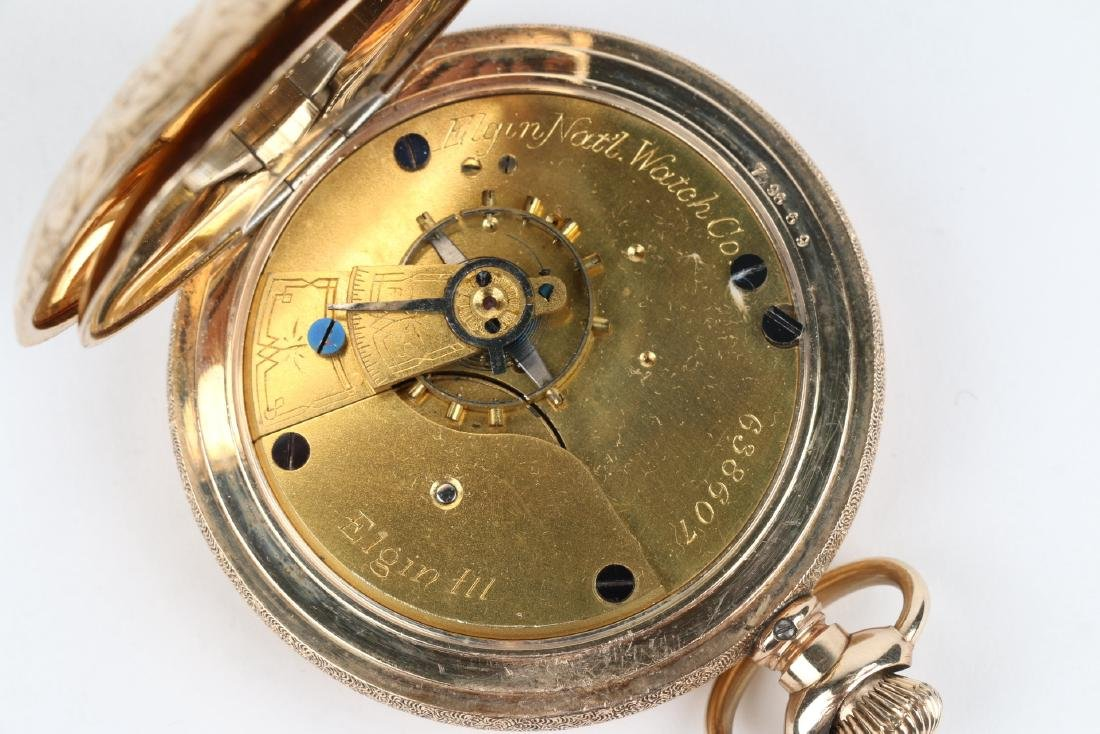 18S 7J Elgin Nat'l Full Hunter Pocket Watch - 6