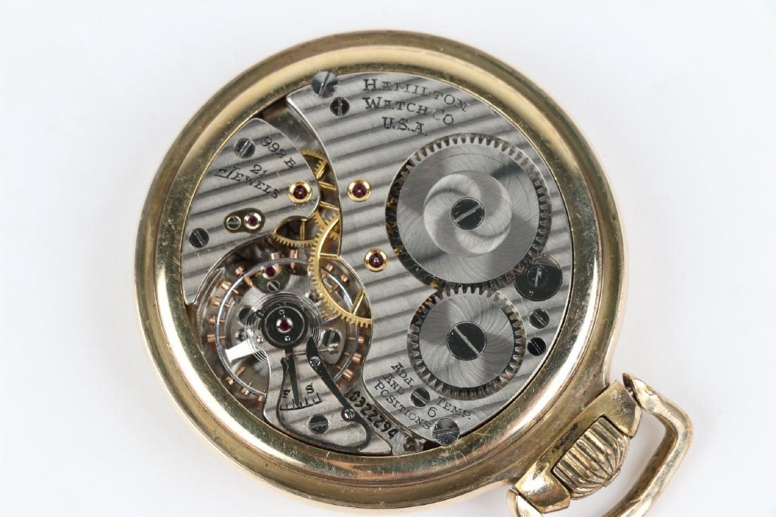 "16S 21J Hamilton ""992B"" Pocket Watch - 6"