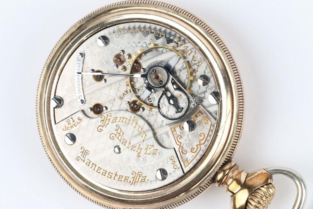 "18S 21J Hamilton ""940"" Pocket Watch - 7"