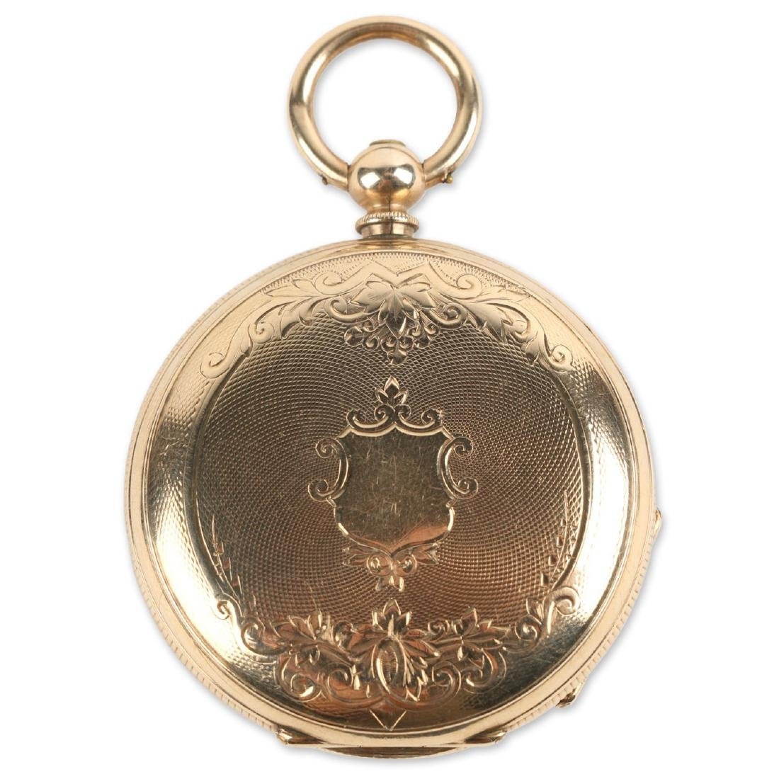 Solid 14K Gold L. Reymond 23J Swiss Pocket Watch
