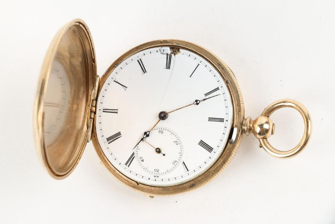 Solid 14K Gold L. Reymond 23J Swiss Pocket Watch - 4