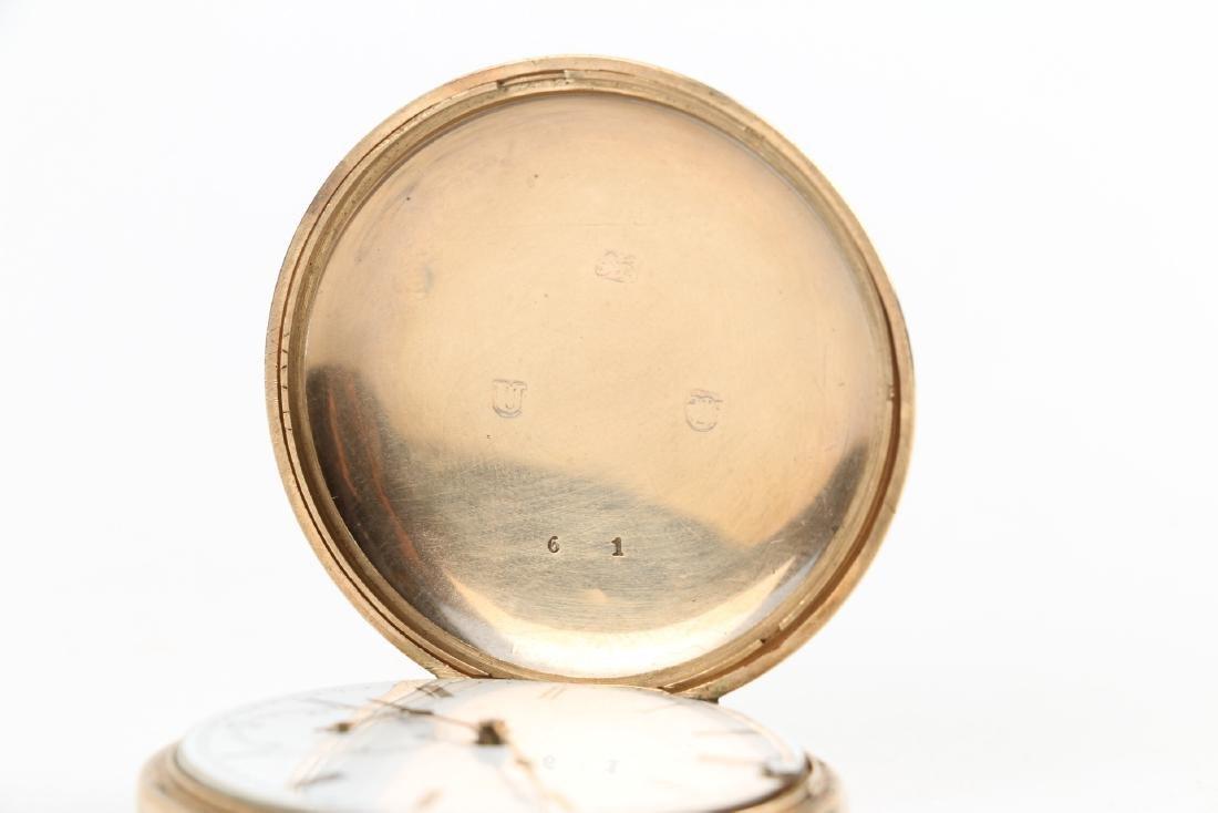 Solid 14K Gold L. Reymond 23J Swiss Pocket Watch - 5