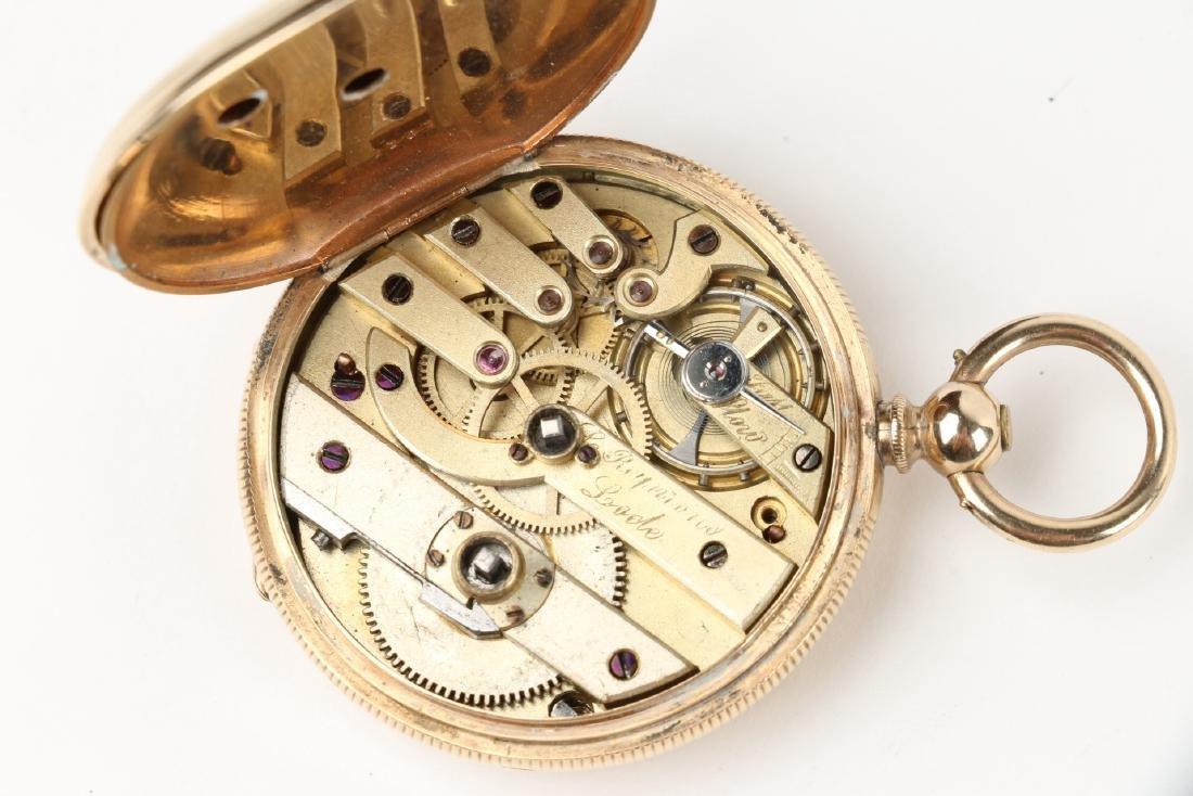 Solid 14K Gold L. Reymond 23J Swiss Pocket Watch - 7