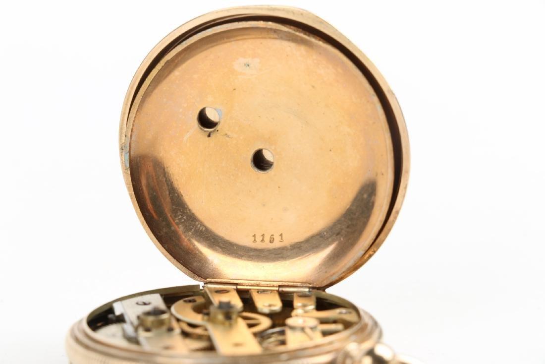 Solid 14K Gold L. Reymond 23J Swiss Pocket Watch - 8