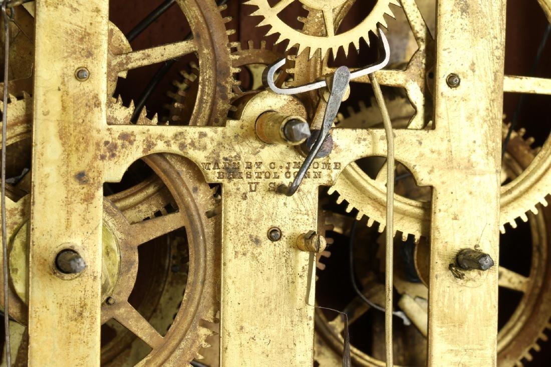"C.1840 Chauncey Jerome ""American Eagle"" OG Mantel Clock - 10"