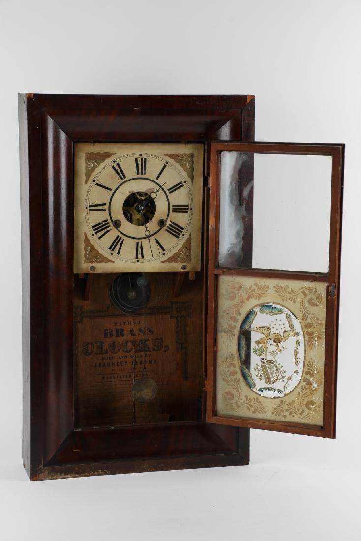 "C.1840 Chauncey Jerome ""American Eagle"" OG Mantel Clock - 5"