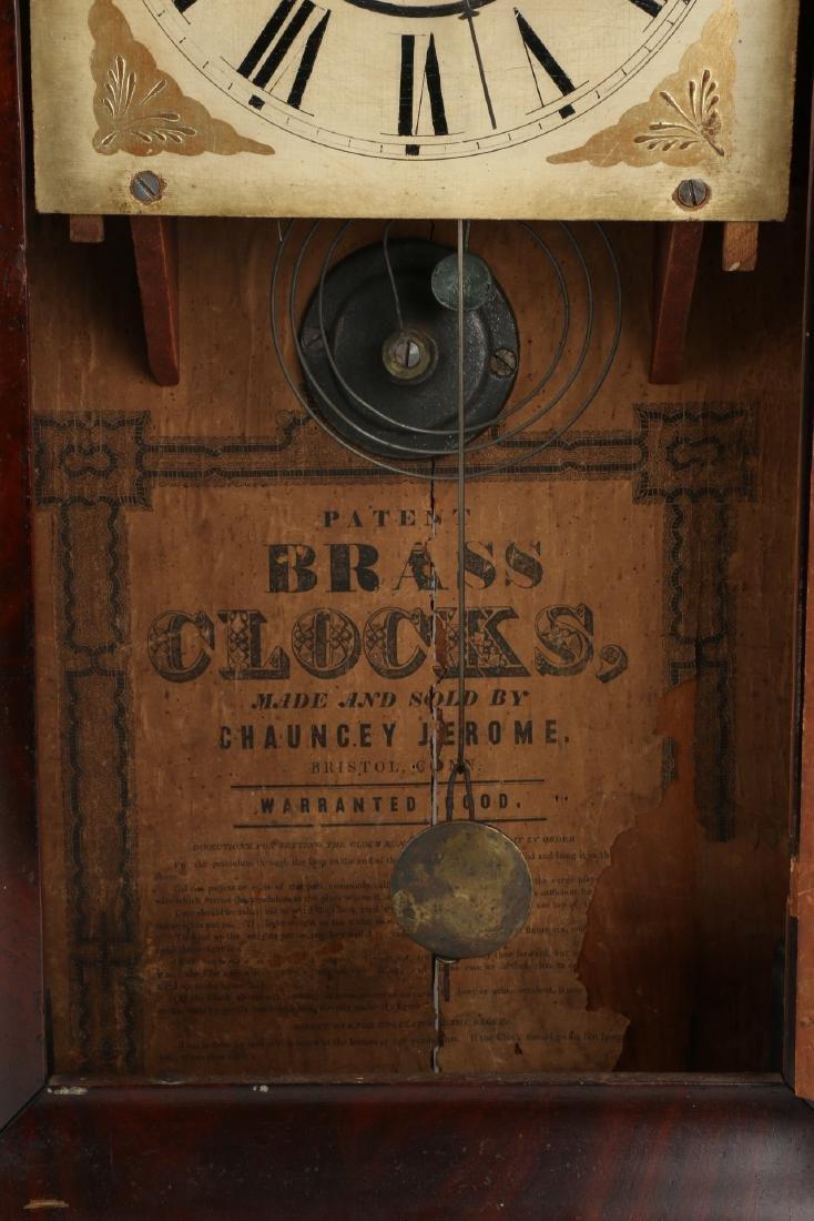 "C.1840 Chauncey Jerome ""American Eagle"" OG Mantel Clock - 7"