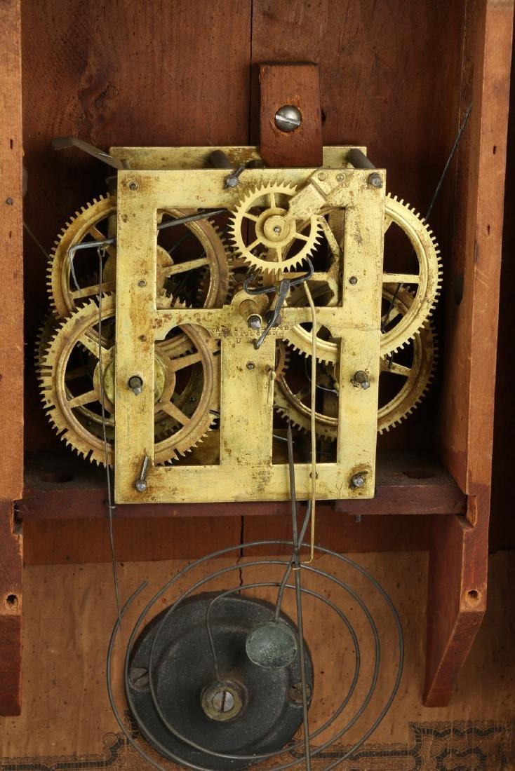 "C.1840 Chauncey Jerome ""American Eagle"" OG Mantel Clock - 9"