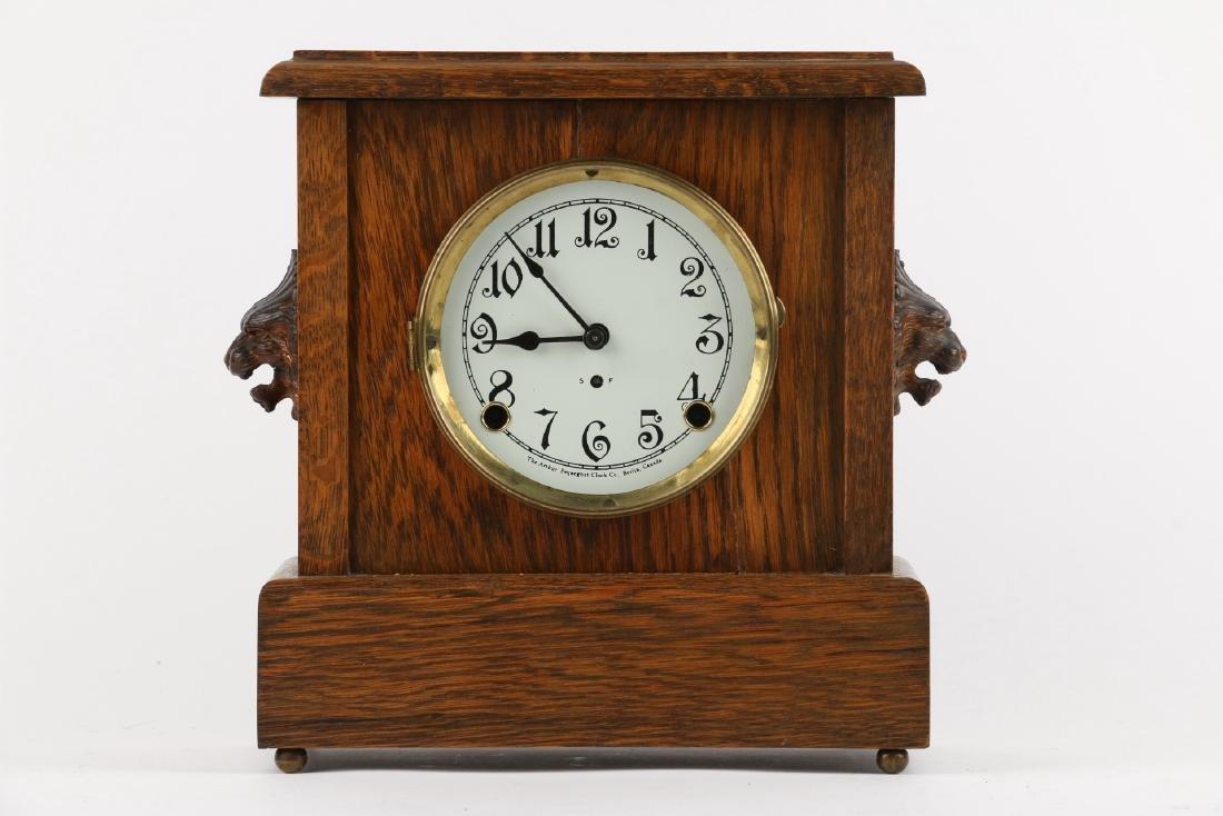 """Pequegnat """"Ward"""" Mantel Clock - 5"""