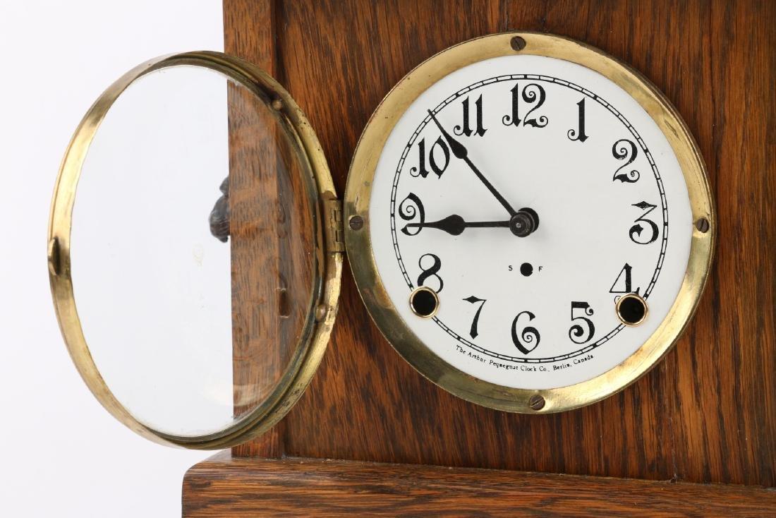 """Pequegnat """"Ward"""" Mantel Clock - 6"""