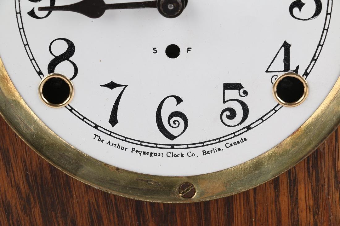 """Pequegnat """"Ward"""" Mantel Clock - 7"""