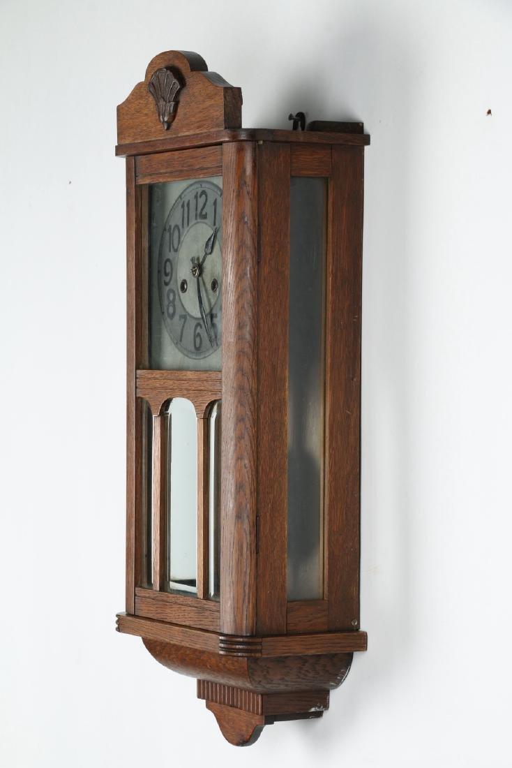 Pair (2) C. 1930s German Wall Clocks - 2