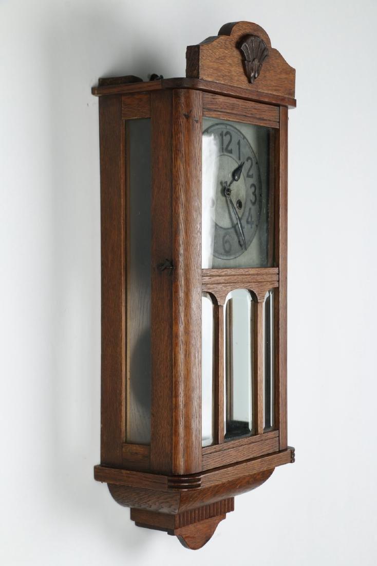 Pair (2) C. 1930s German Wall Clocks - 3