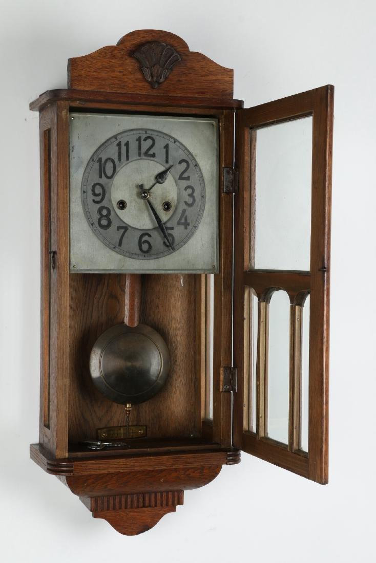 Pair (2) C. 1930s German Wall Clocks - 4