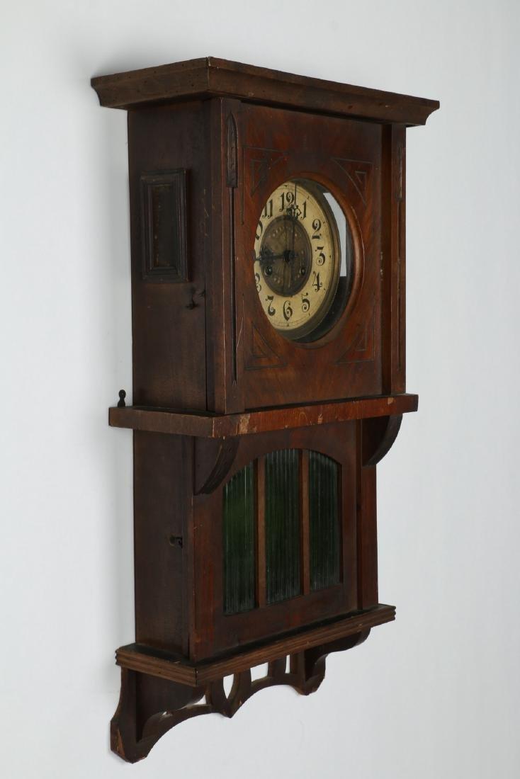 Pair (2) C. 1930s German Wall Clocks - 8
