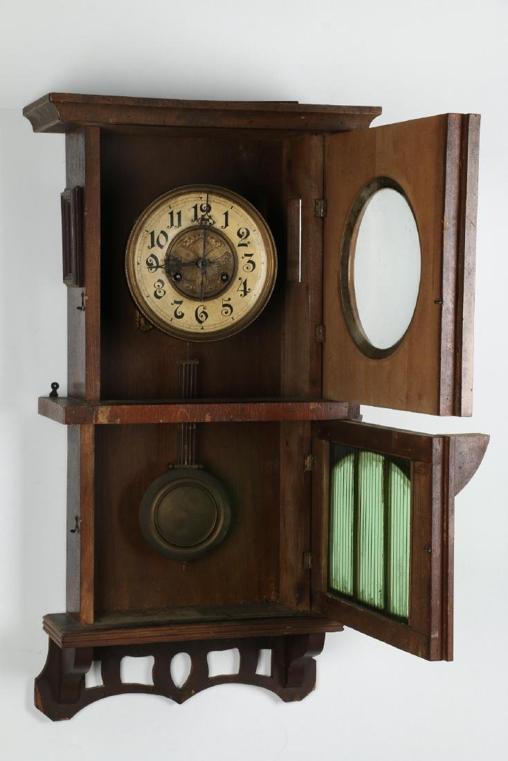 Pair (2) C. 1930s German Wall Clocks - 9