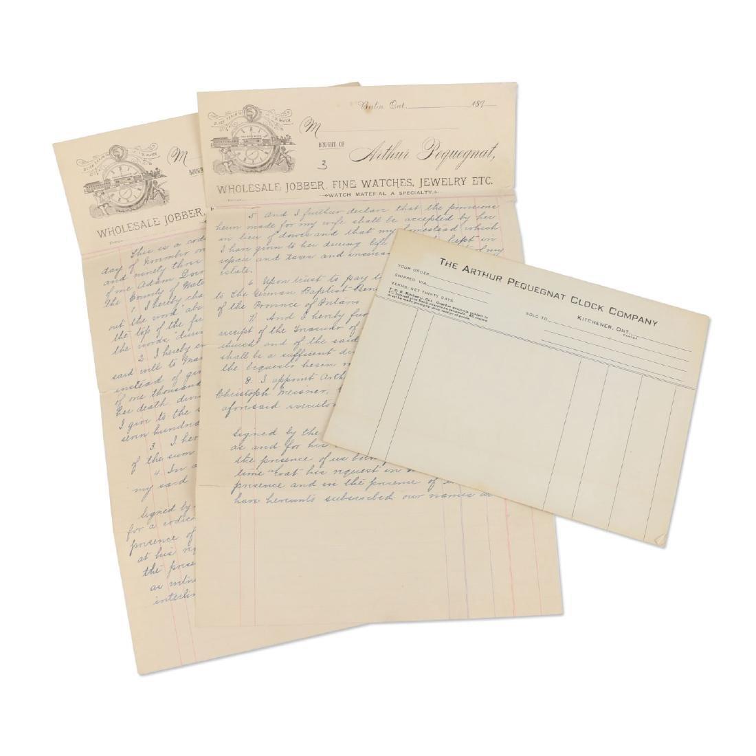 Two (2) Arthur Pequegnat Berlin (as Executor) Documents