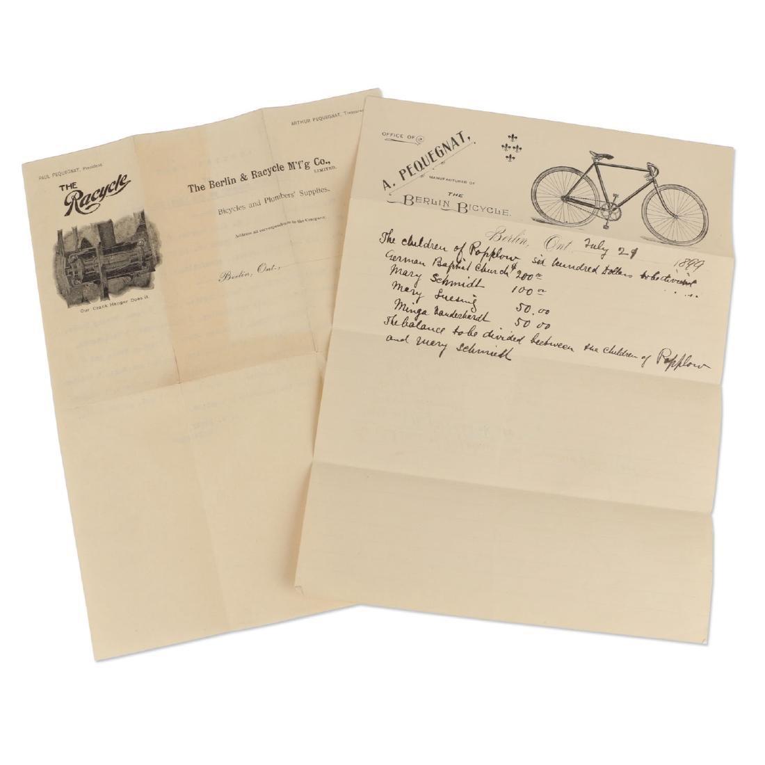 Two (2) Berlin Racycle Letterhead Documents