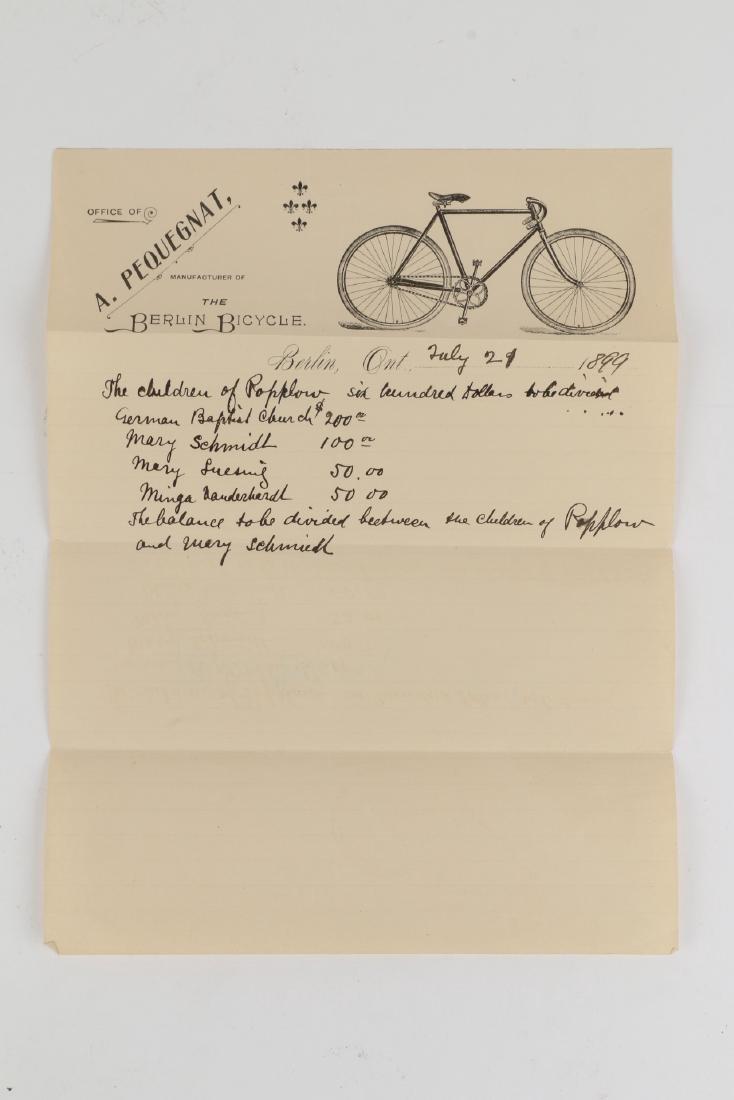 Two (2) Berlin Racycle Letterhead Documents - 2