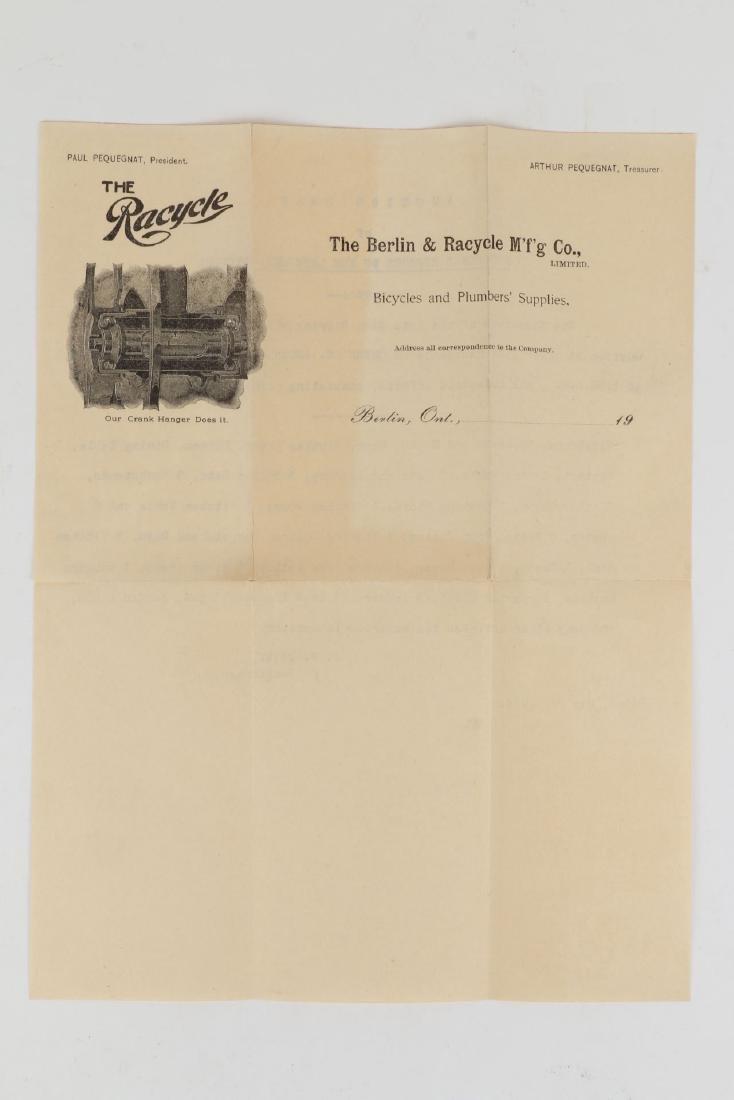 Two (2) Berlin Racycle Letterhead Documents - 4