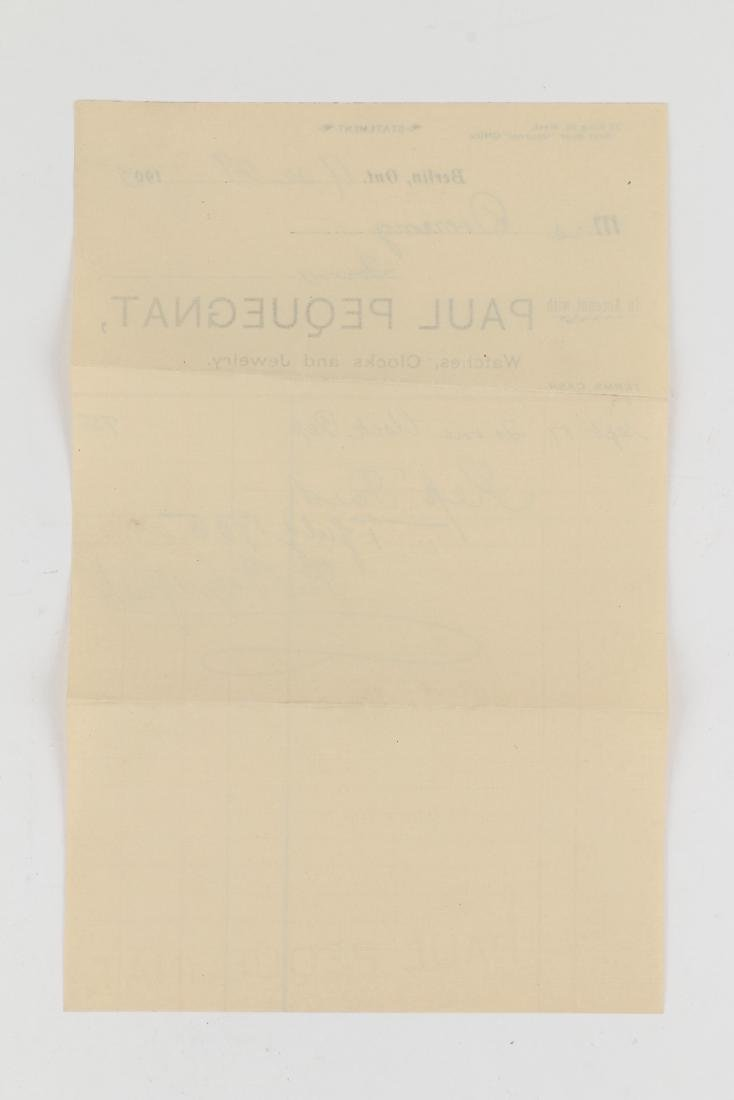 Two (2) Paul Pequegnat (Berlin Bicycle) Invoices - 3