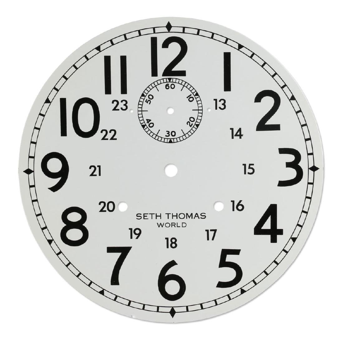 """NOS Seth Thomas """"World"""" CPR-Issued Clock Dial"""