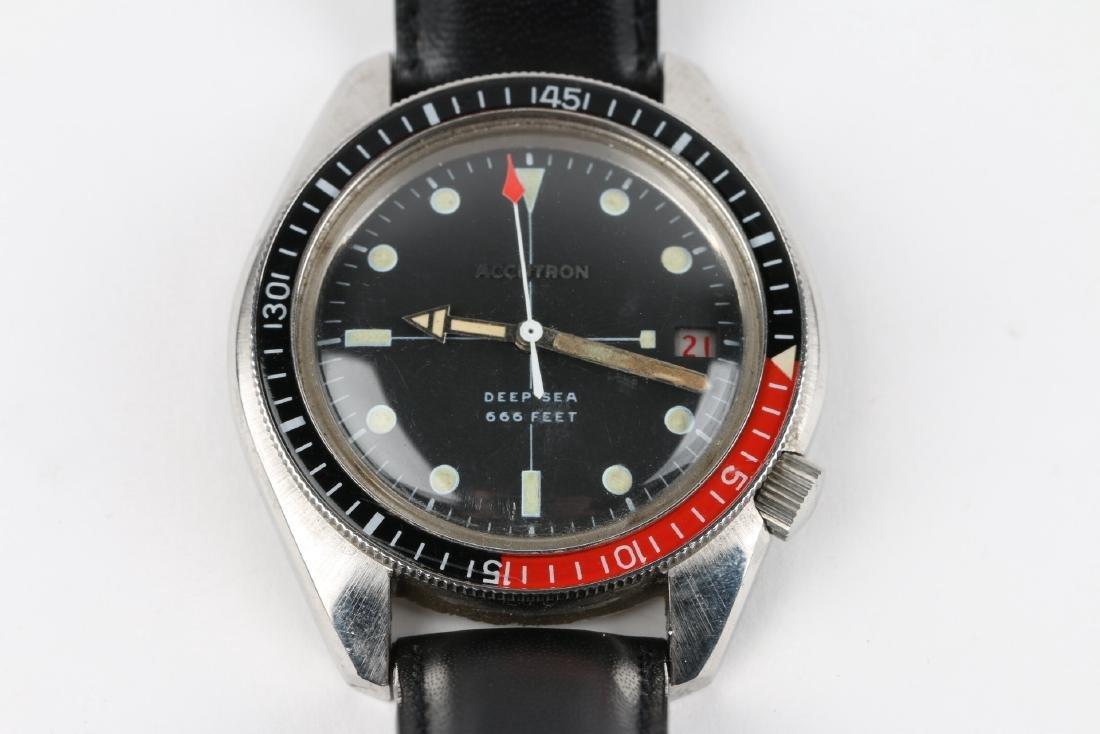 "Bulova Accutron ""Deep Sea"" 666ft Diver's Wristwatch - 4"