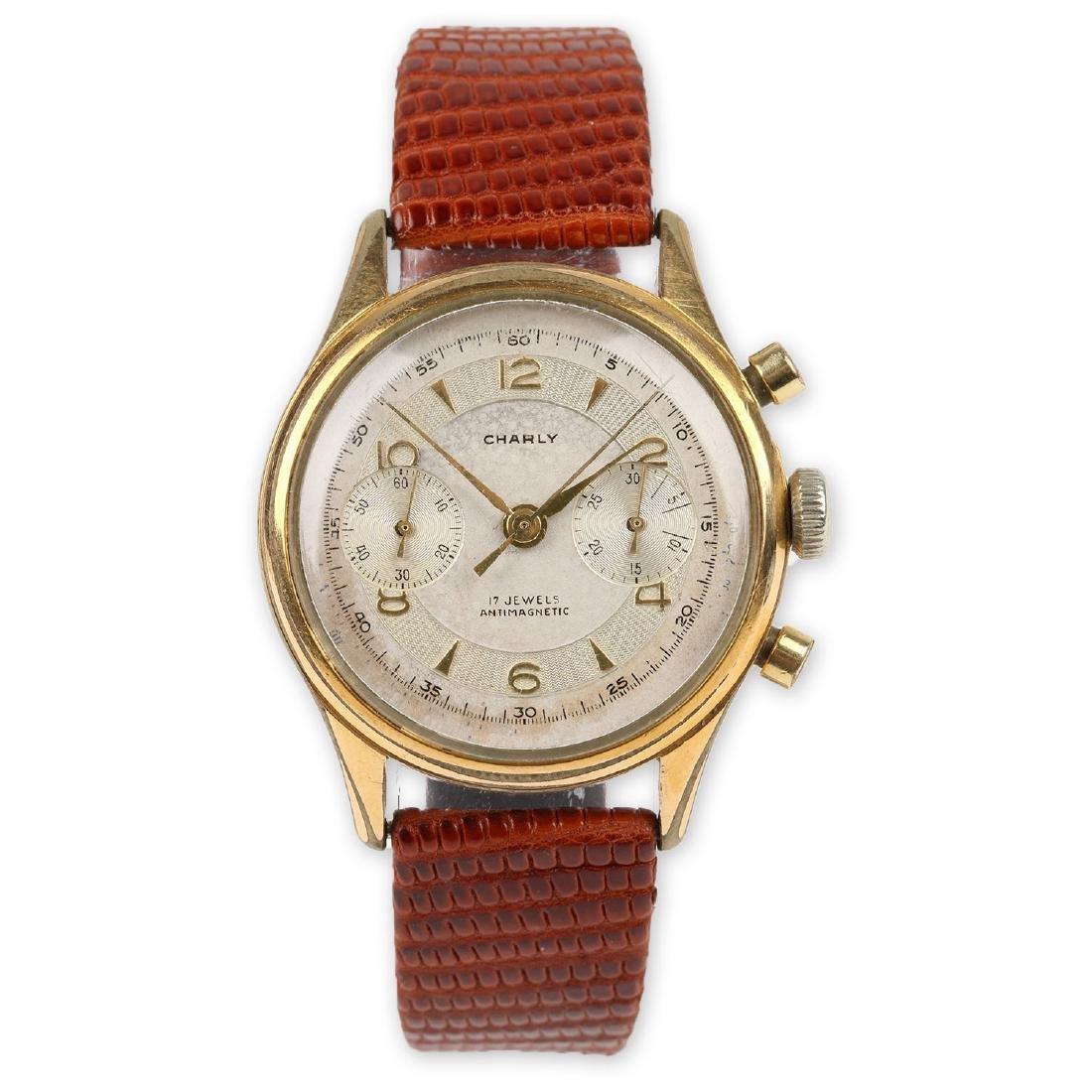 "Swiss 2-Button ""Charly"" Chronograph Wristwatch"