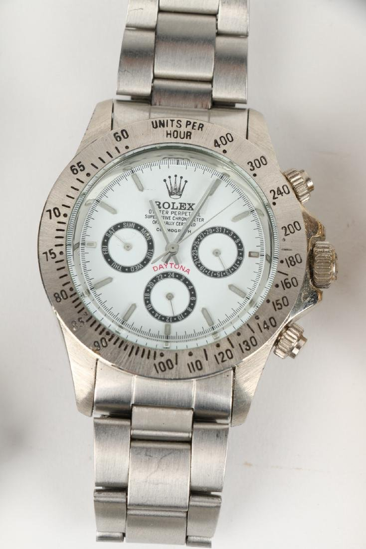 Nine (9) Contemporary Wristwatches Incl. Rolex Replicas - 5