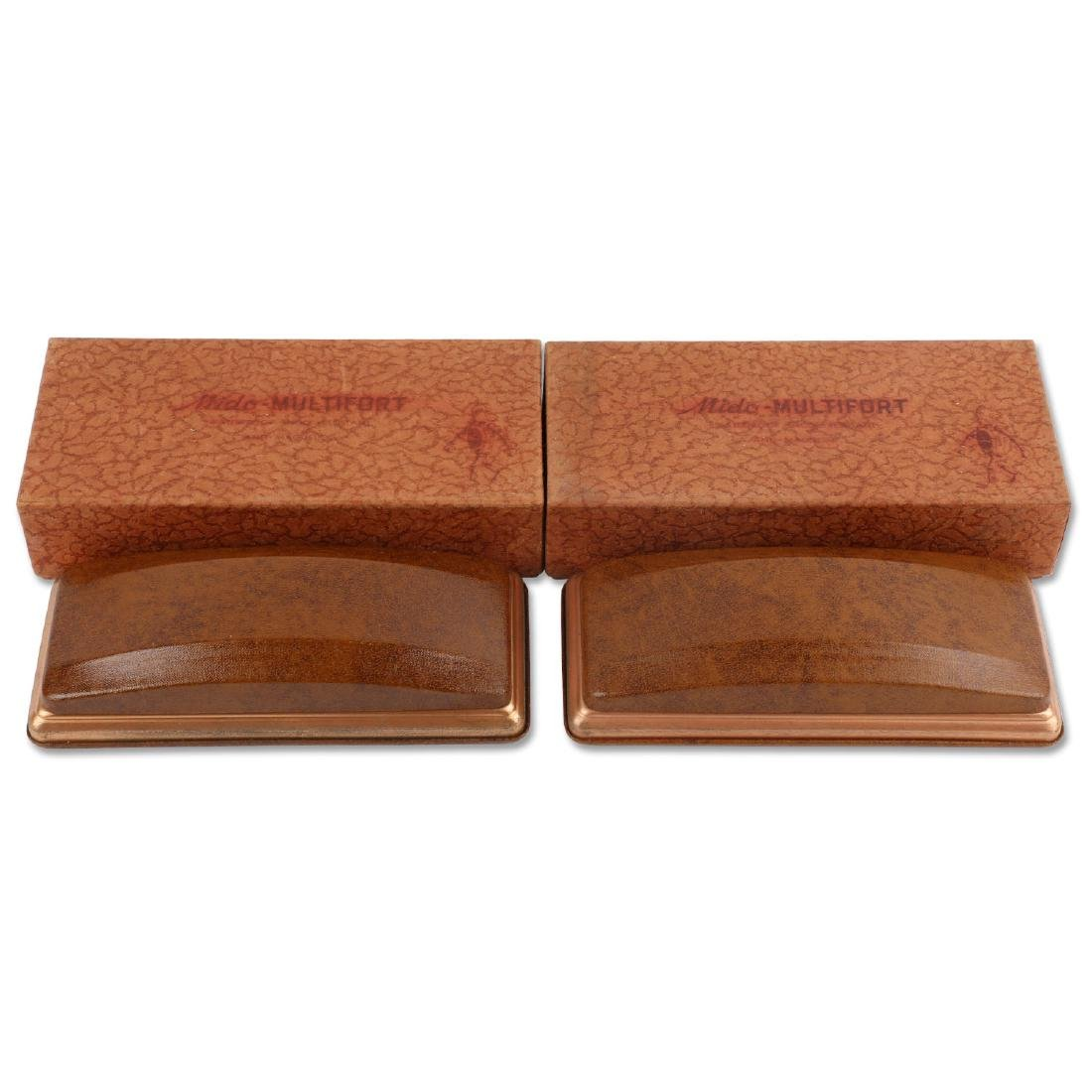 """Two (2) NOS Mido """"Multifort"""" Jewellers Display Boxes"""