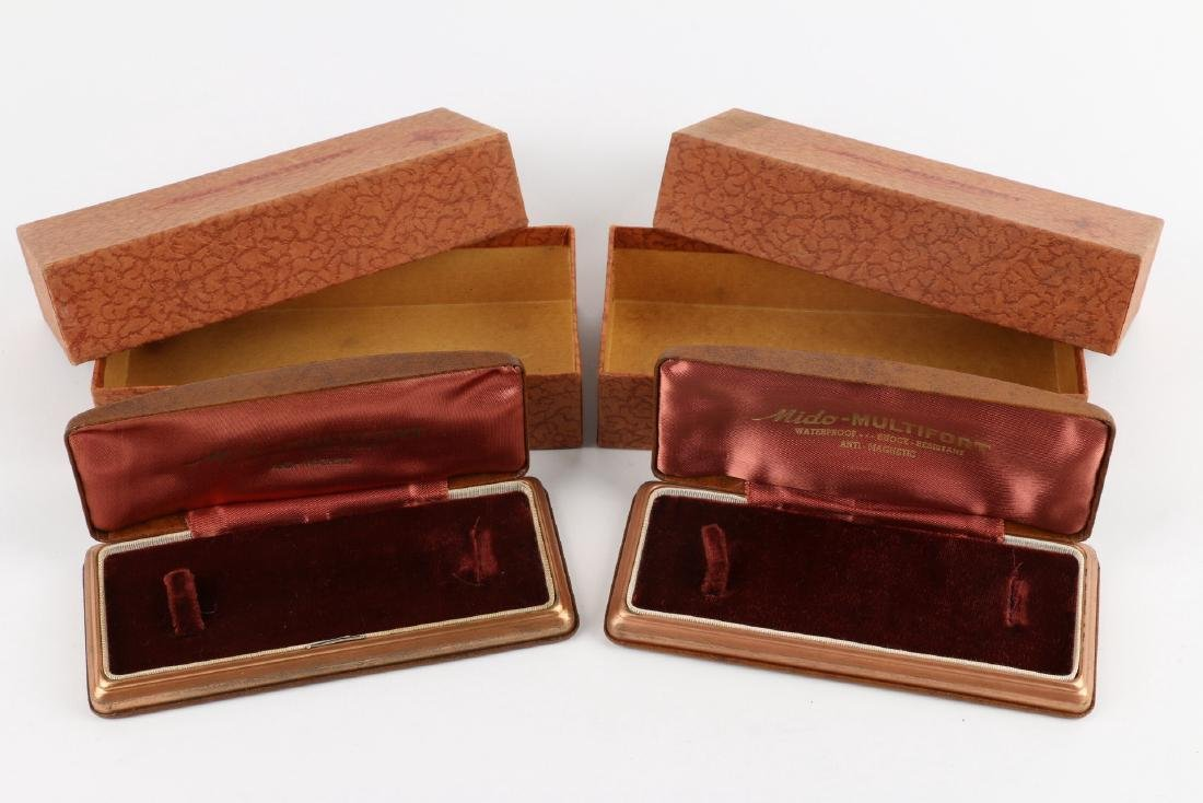 "Two (2) NOS Mido ""Multifort"" Jewellers Display Boxes - 3"