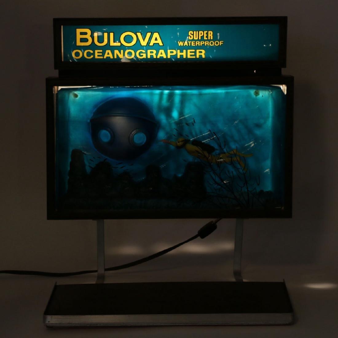 """Rare Bulova """"Oceanographer"""" Jeweller's Motion-Light - 8"""