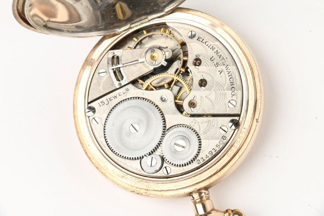 16S 15J Elgin in Sterling Eagle Hunter Case - 6