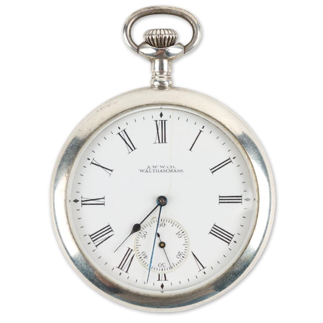 "Sterling 14S Waltham Ensign ""Export"" Pocket Watch"
