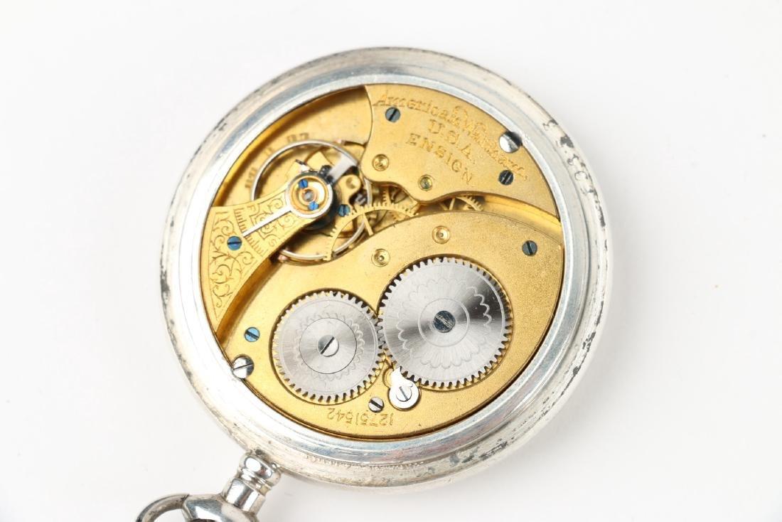 "Sterling 14S Waltham Ensign ""Export"" Pocket Watch - 6"