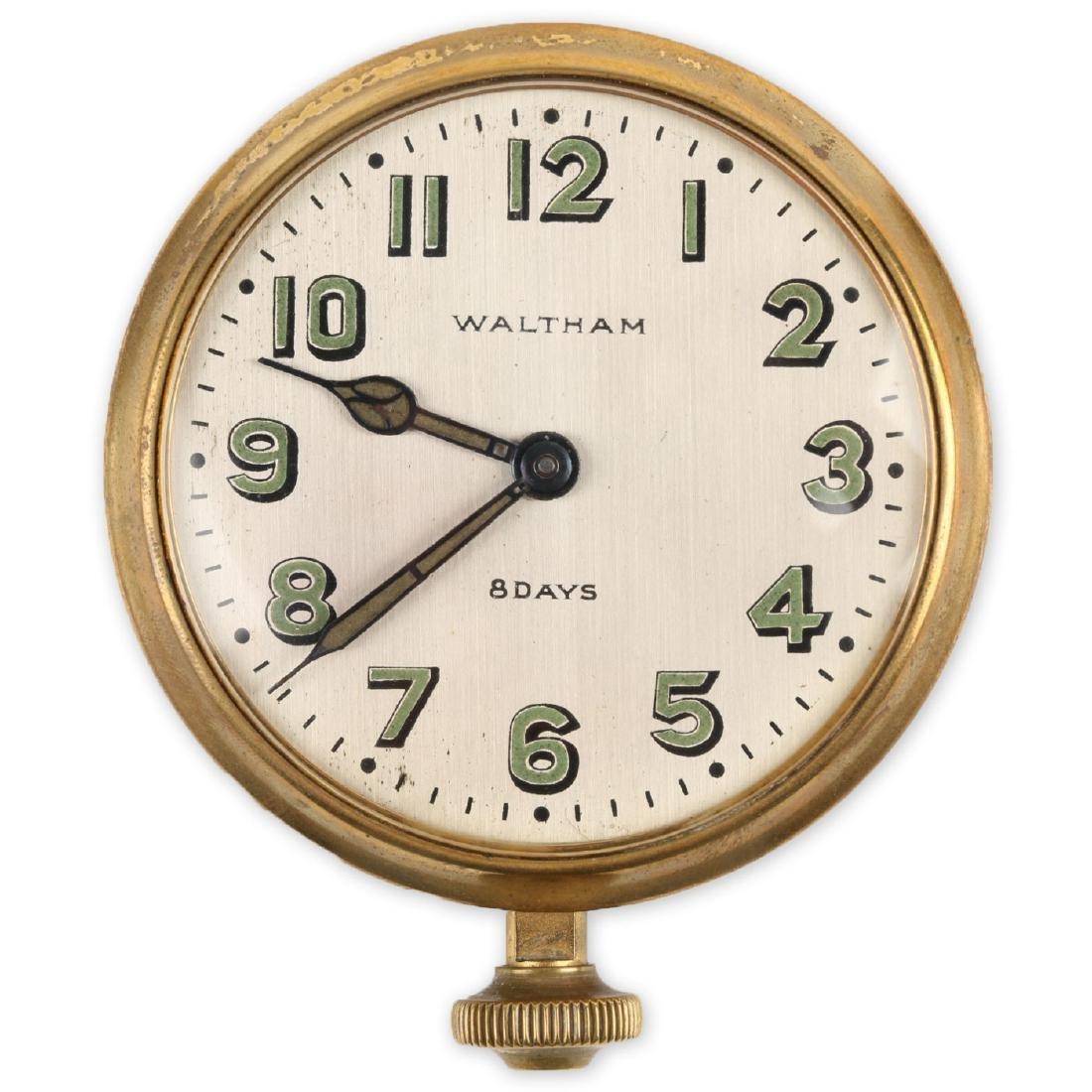 Waltham 8-Day Car Clock