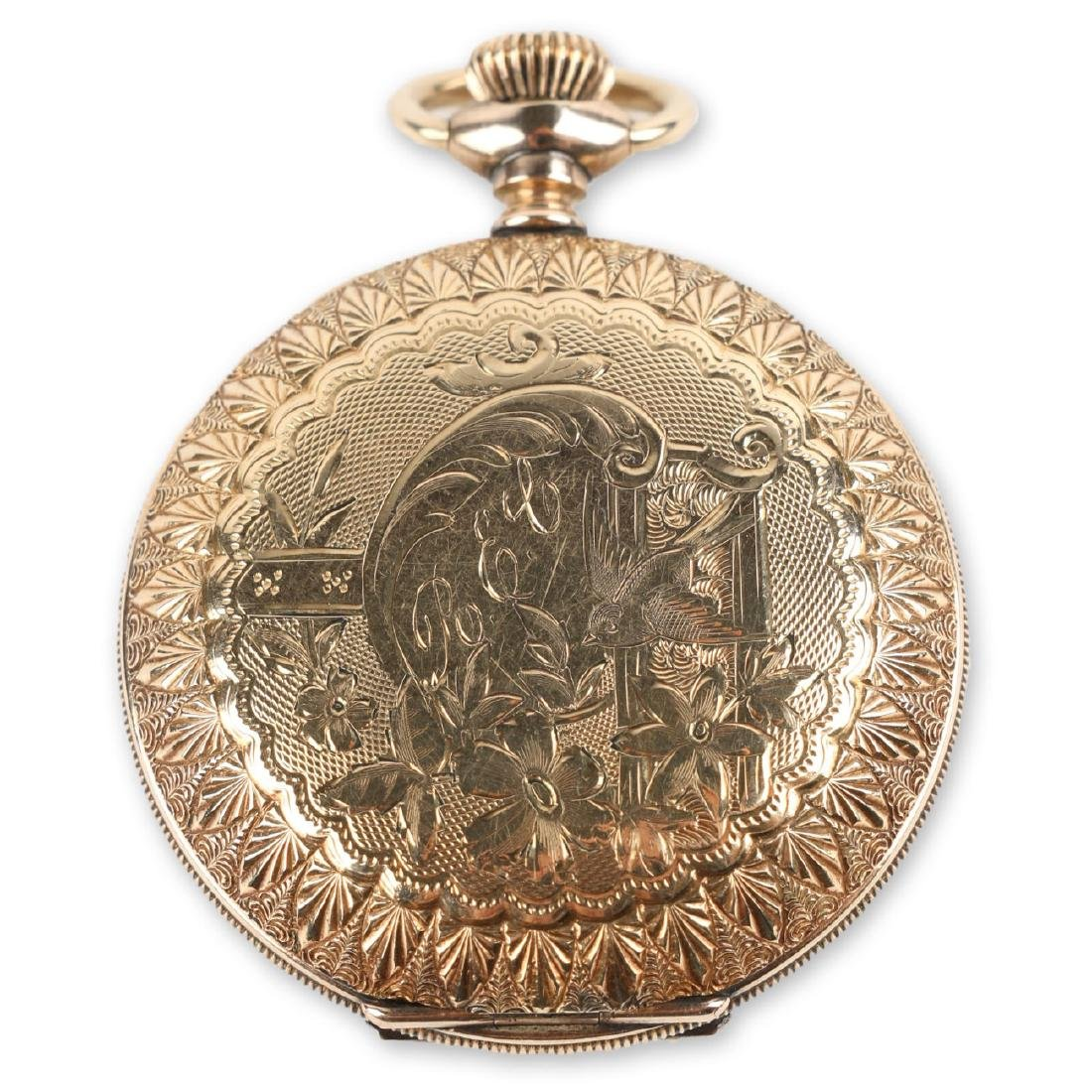 "6S Waltham ""Seaside"" Ladies Full Hunter Pocket Watch"