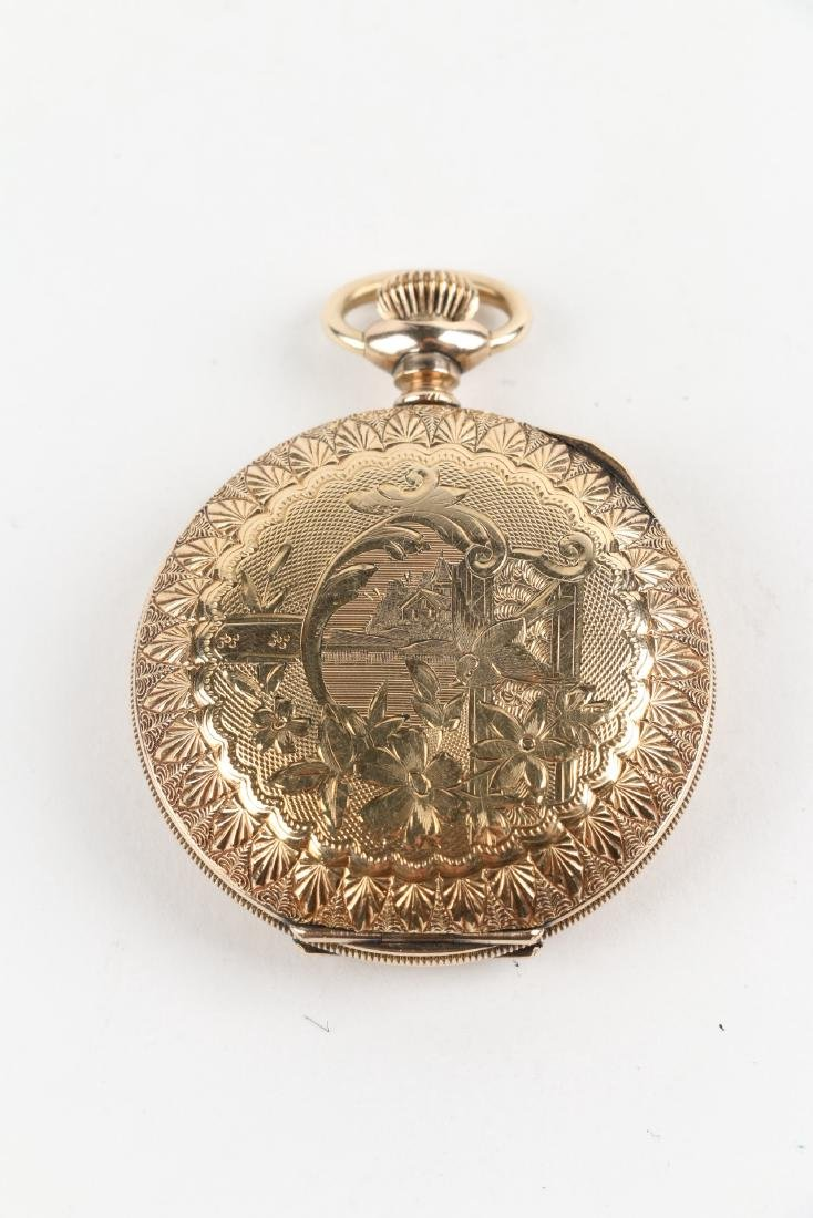 "6S Waltham ""Seaside"" Ladies Full Hunter Pocket Watch - 2"