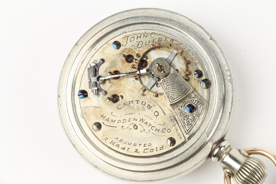 "18S 15J Hampden ""John C. Dueber"" Pocket Watch - 6"