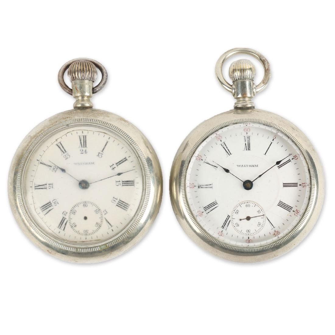 Two (2) 18S 1883 Model Waltham Pocket Watches
