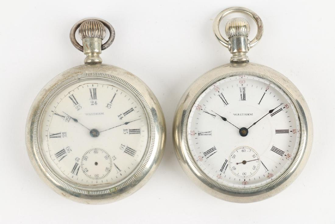Two (2) 18S 1883 Model Waltham Pocket Watches - 4