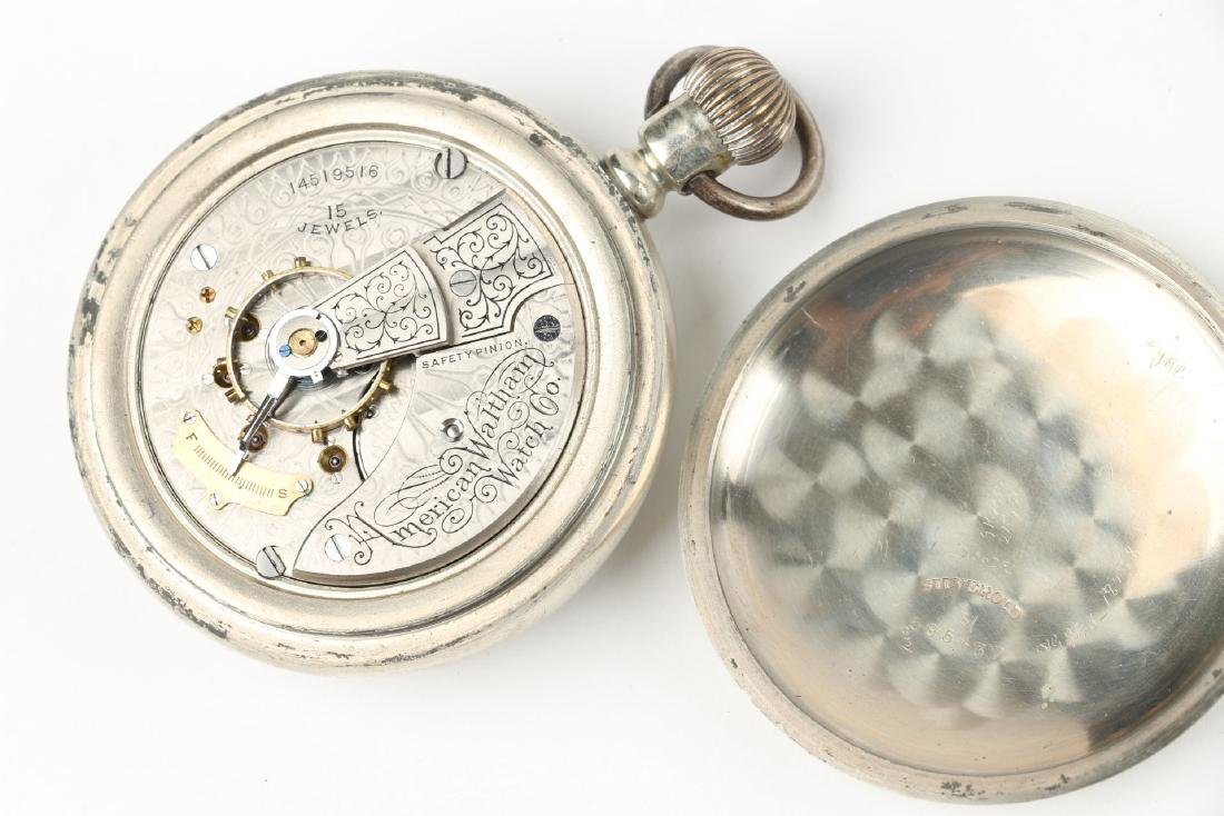 Two (2) 18S 1883 Model Waltham Pocket Watches - 6