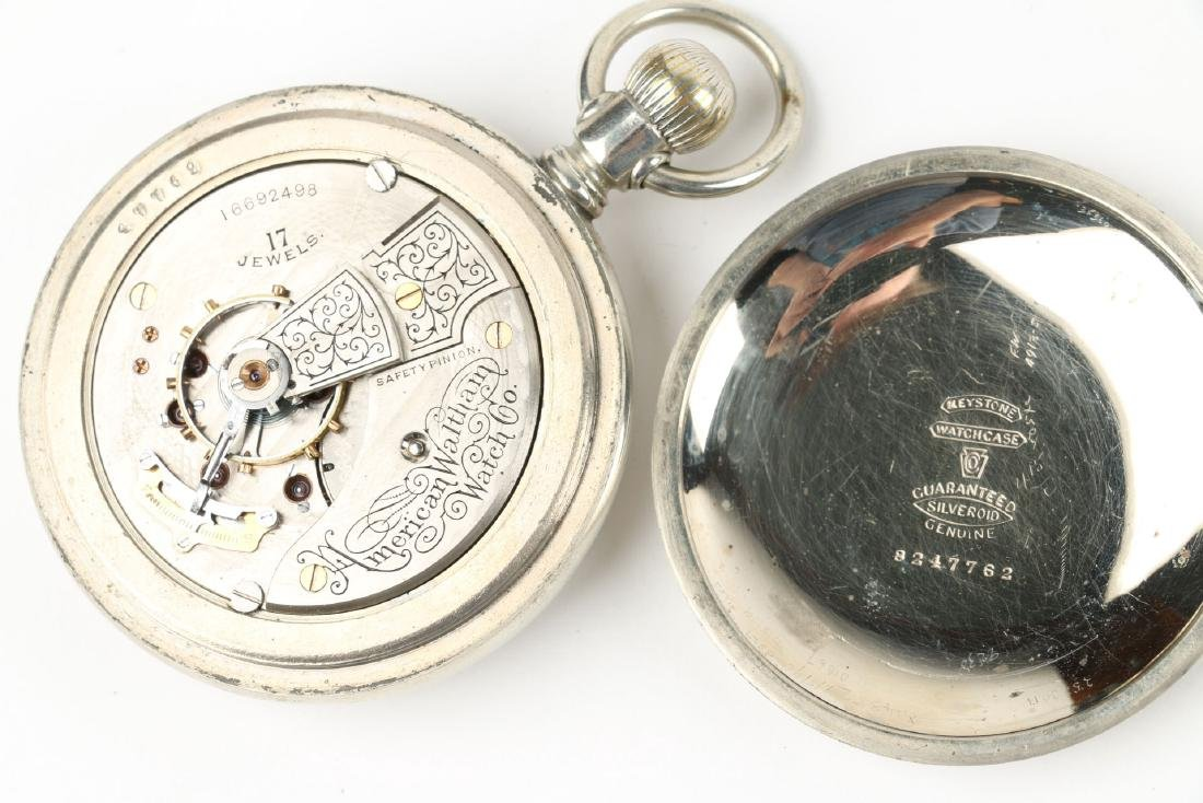 Two (2) 18S 1883 Model Waltham Pocket Watches - 7