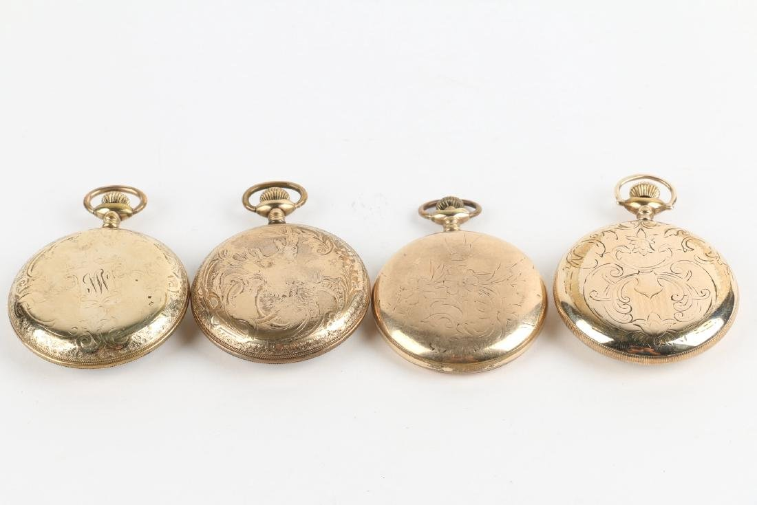 Four (4) 16S Gold Filled Swiss Pocket Watches - 2