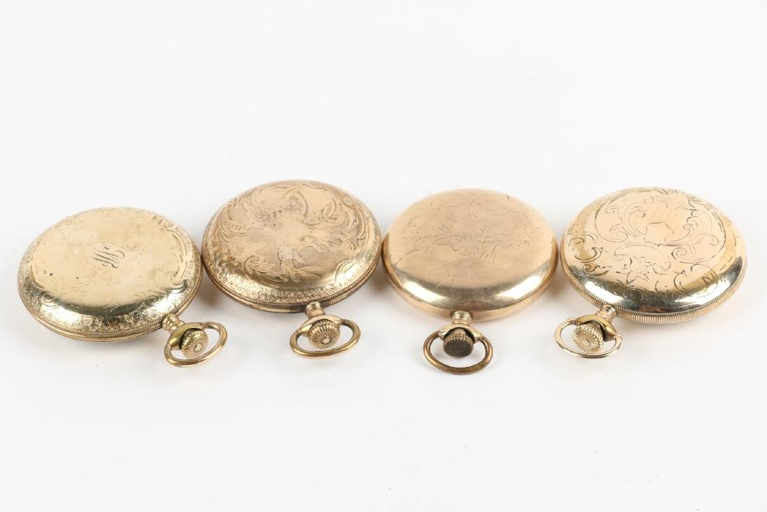 Four (4) 16S Gold Filled Swiss Pocket Watches - 3