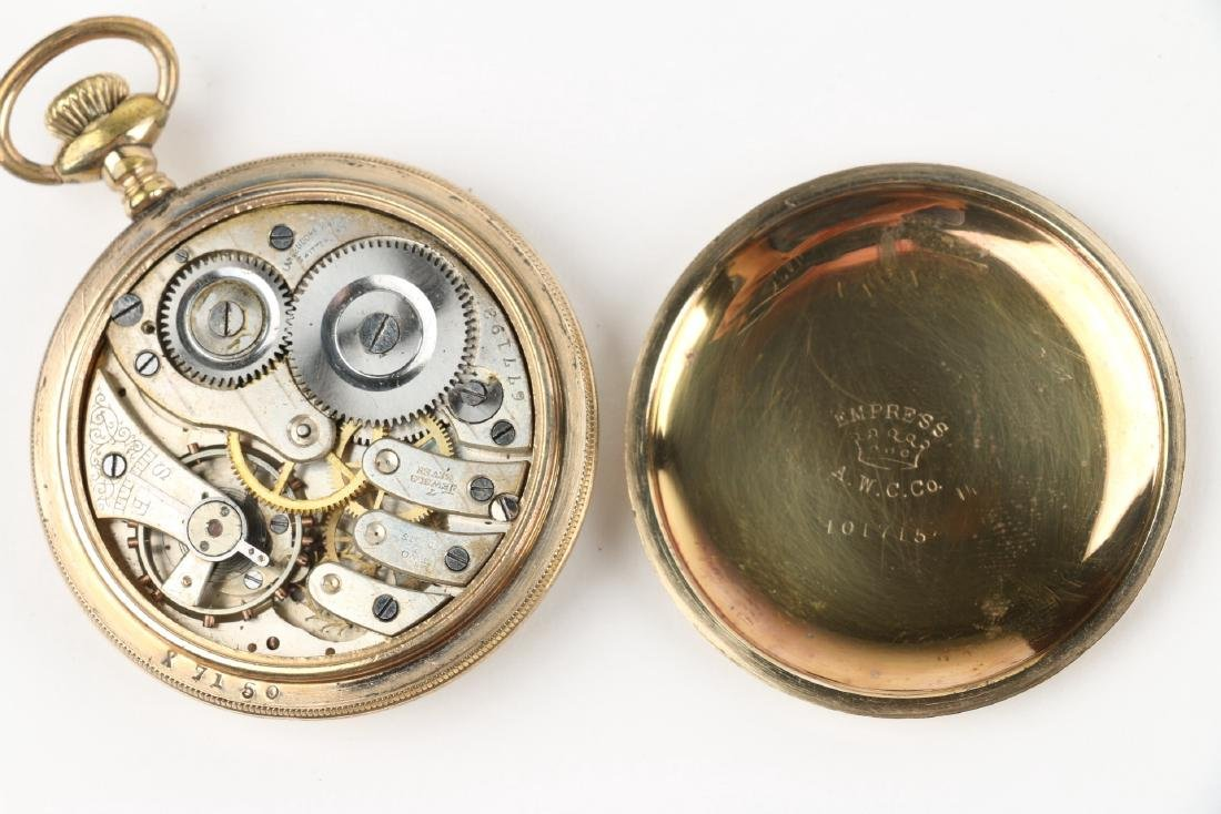 Four (4) 16S Gold Filled Swiss Pocket Watches - 6
