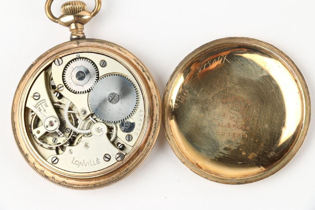 Four (4) 16S Gold Filled Swiss Pocket Watches - 7