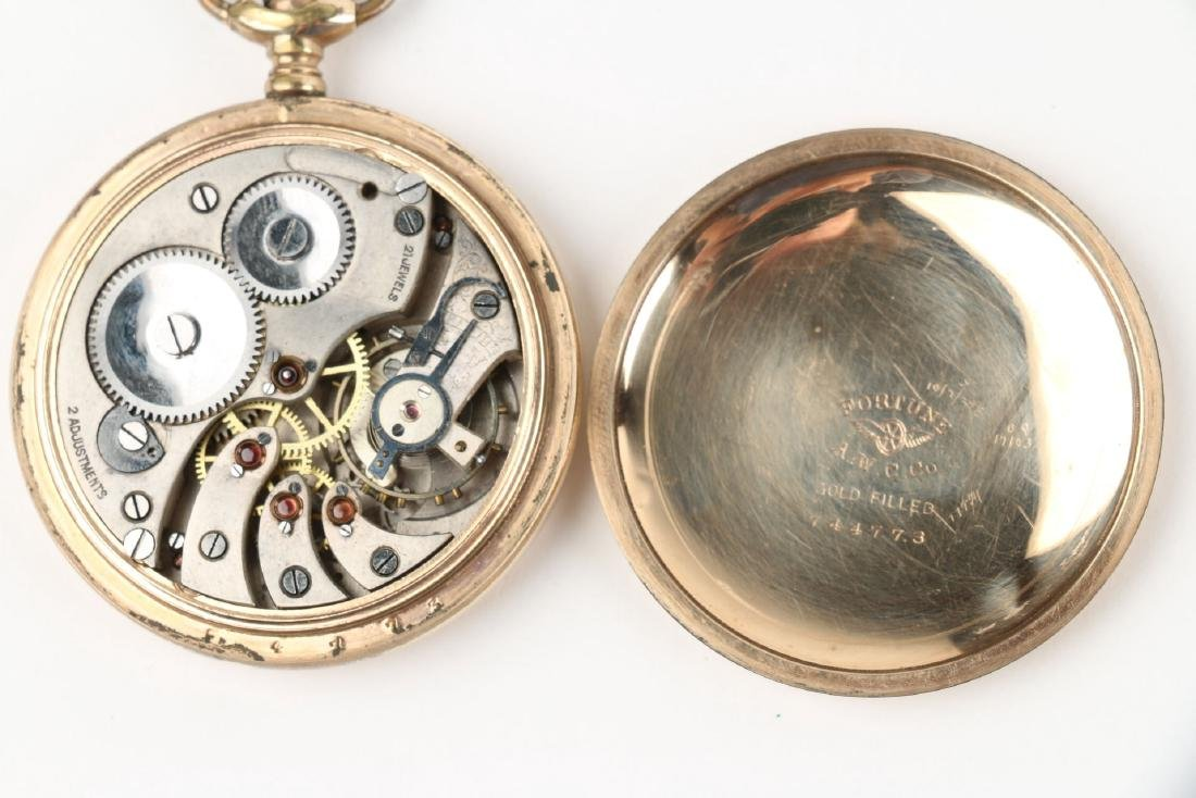 Four (4) 16S Gold Filled Swiss Pocket Watches - 9