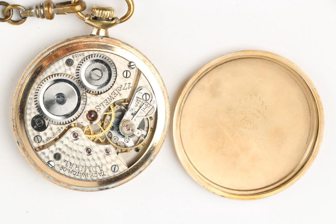 Four (4) 6S Swiss Pocket Watches & Chains - 10