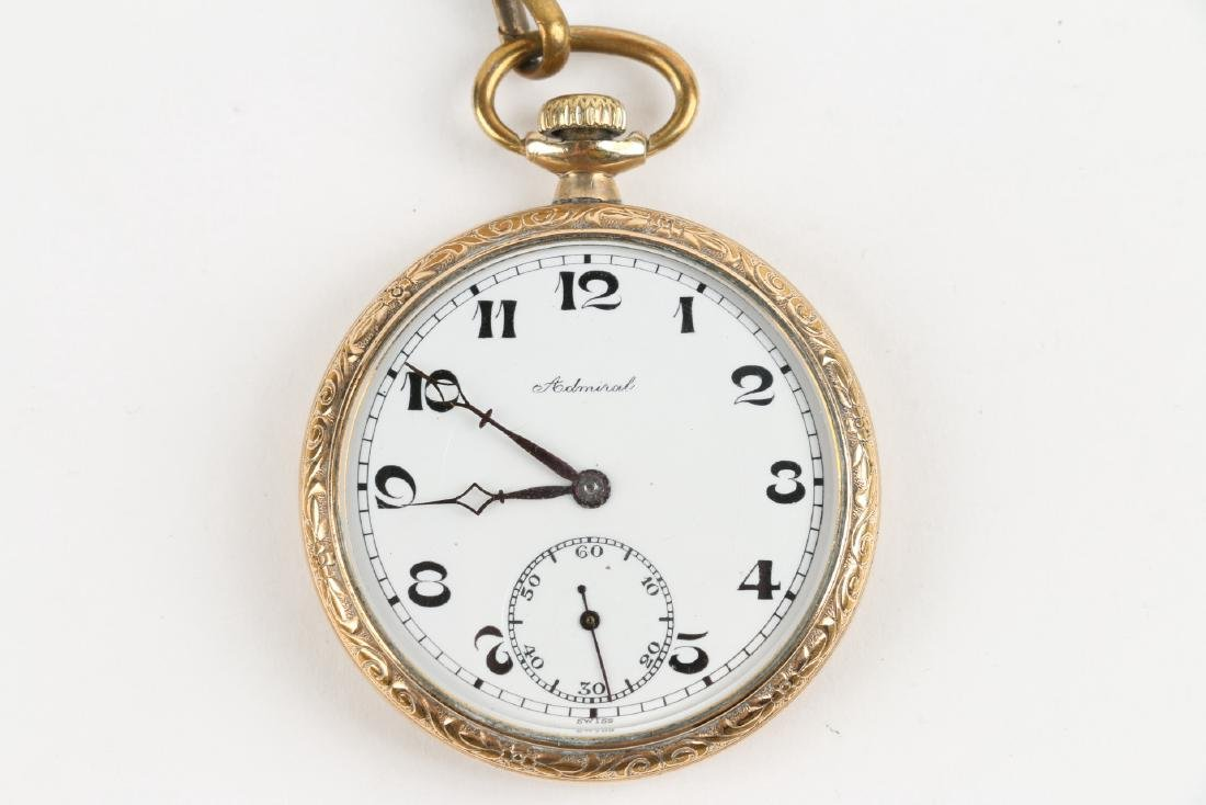 Four (4) 6S Swiss Pocket Watches & Chains - 9